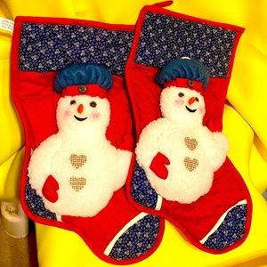 VINTAGE 2 SANTAS BEST CHRISTMAS STOCKINGS